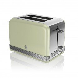 2 Slice Retro GREEN Toaster ST19010GN
